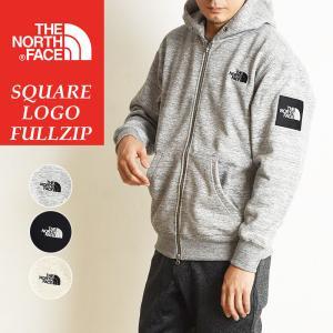 2020秋冬新作 ノースフェイス THE NORTH FACE スクエアロゴフルジップ 裏起毛 スウェット パーカー メンズ レディース Square Logo FullZip NT62038|geostyle