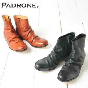 【期間限定】ポイント11倍 パドローネ PADRONE サイドジップブーツ SIDE ZIP BOOTS PU8395-1105-14C  革靴 日本製 メンズ ブーツ パドロネ 靴|geostyle