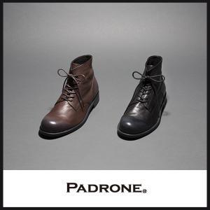 【期間限定】ポイント11倍 PADRONE パドローネ レースアップ ブーツ ROMANO(ロマノ) PU8586-1107 ホワイトワックス加工 HIGH STANDARD LINE/ハイスタンダード|geostyle