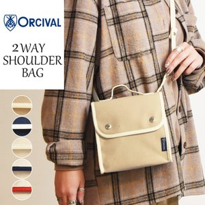 ORCIVAL オーシバル/オーチバル 2WAY キャンバス ショルダーバッグ  #RC-7235 レディース メンズ バッグ 鞄 かばん 布|geostyle
