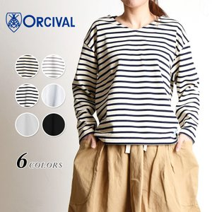 Orcival オーチバル オーシバル レディース Vネック フレンチバスクシャツ ボーダー 長袖Tシャツ カットソー RC-9116 geostyle