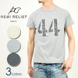 レミレリーフ REMI RELIEF スペシャル加工 Tシャツ 半袖 手書き44 メンズ RN16189159 ヴィンテージ加工|geostyle