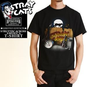 Stray Cats x Style Eye ストレイキャッツ× スタイルアイズ ロック Tシャツ リミテッドエディション 半袖 メンズ SUN SURF サンサーフSE78298|geostyle