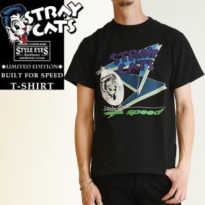 Stray Cats x Style Eye ストレイキャッツ× スタイルアイズ ロック Tシャツ リミテッドエディション 半袖 メンズ SUN SURF サンサーフ SE78300|geostyle