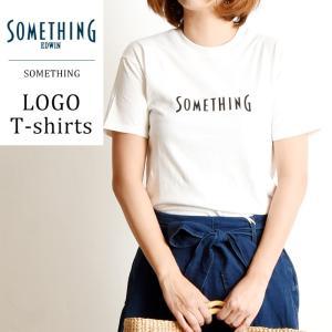 【再値下げ】SALEセール20%OFF サムシング SOMETHING ロゴ プリント クルーネック 半袖 Tシャツ レディース ロゴT 大人かわいい おしゃれ ST548|geostyle