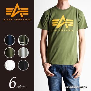 ALPHA INDUSTRIES アルファ インダストリー アルファBIGロゴ プリント半袖Tシャツ TC-1126A|geostyle