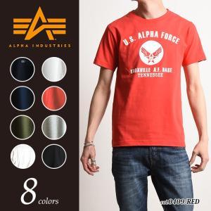 ALPHA INDUSTRIES アルファ インダストリー エアフォースBIGロゴ ロゴプリント半袖Tシャツ TC-1126C|geostyle