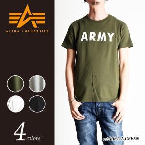 ALPHA INDUSTRIES アルファ インダストリー ARMY迷彩 ロゴプリント半袖Tシャツ TC-1126D|geostyle