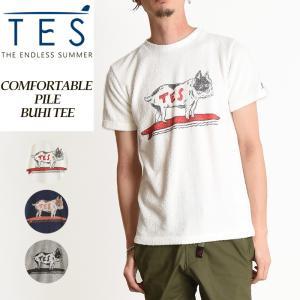2019春夏新作 TES-The Endless Summer テス エンドレスサマー コンフォータブル ブヒ 半袖 Tシャツ メンズ パイル地 TR-9574319|geostyle