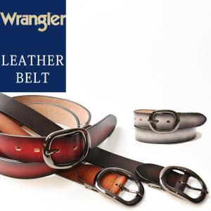 2020春夏新作 Wrangler/ラングラー グラデーション レザー ベルト WR3061 メンズ 本革 カジュアル 日本製 WR-3061|geostyle