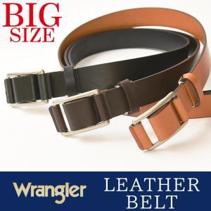 Wrangler/ラングラー 大きいサイズ 長尺 スライド レザーベルト メンズ 本革 カジュアル ビジネス 日本製 WR-3514 ビックサイズ/大寸サイズ/キングサイズ|geostyle