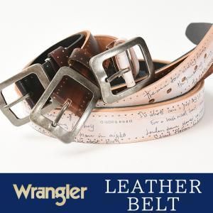 Wrangler/ラングラー アンティークバックル レーザー彫サイド金箔入り ベルト WR4031  メンズ レディース 本革 カジュアル ビジネス 日本製 サイズ調整|geostyle