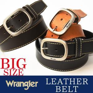 Wrangler/ラングラー サイドステッチ オイルド加工 レザー 長尺 ベルト WR4067 メンズ 本革 カジュアル ビジネス 日本製 WR-4067 大きいサイズ/ビックサイズ|geostyle