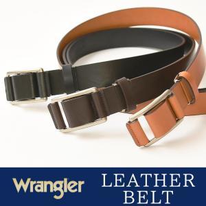 Wrangler/ラングラー レザー スライド ベルト メンズ レディース 本革 カジュアル ビジネス 日本製 サイズ調整 WR3513|geostyle