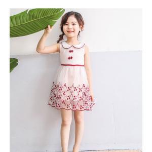 60553f291bbaf ワンピース 子供服 キッズ フォーマル 発表会 上品 可愛い パティー 小花柄 シフォン 襟付き