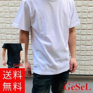 メンズ レディース GeSeL オリジナル プリント Tシャツ 無地 半袖 紳士 ファッション カジ...