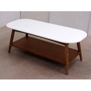 テーブル ローテーブル オークウッド ホワイト・ブラウン CTB-AK-H45 アウトレット 家具 インテリア|get-annex