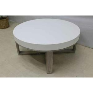 コーヒーテーブル ローテーブル CTB-CA-H45R ミンディーウッド インテリア ホワイト 白  アウトレット 中古 家具 インテリア|get-annex
