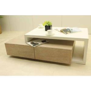 コーヒーテーブル ローテーブル CTB-KO-H40 ミンディーウッド インテリア ホワイト 白 【新品】 Baque de loop|get-annex