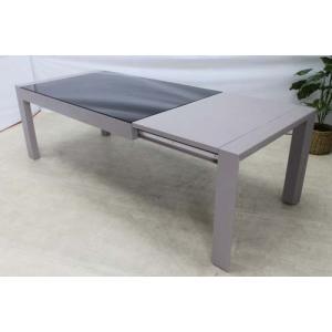 送料別 アウトレット ダイニングテーブル エクステンション ミンディーウッド グレー サイズ幅180/260 DTB-EU-EX 家具 インテリア 安い おしゃれ|get-annex