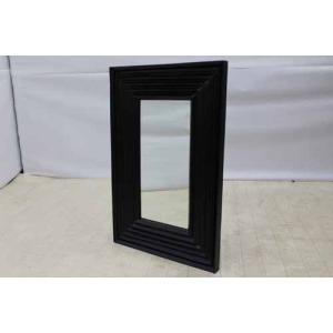 鏡 ミラー ウォールミラー MRR002 アジアン ブラック 黒  アウトレット 中古 家具 インテリア|get-annex