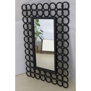 鏡 ミラー ウォールミラー MRR005 アジアン ブラック 黒  アウトレット 家具 インテリア|get-annex