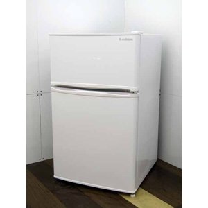 冷蔵庫 エーステージ エスキュービズム 2ドア 90L 耐熱トップ 左右ドアフリー ホワイト R-90WH 2018年製 限定特価|get-annex