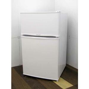 冷蔵庫 リムライト WRH-96 90L 2ドア ホワイト 2019年製|get-annex