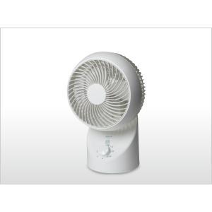 一部地域送料無料 扇風機  サーキュレーター テクノス 18cm 3枚羽根の360° 3D首振り SAK-330 ホワイト|get-annex