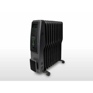 ヒーター TEKNOS オイルヒーター デジタル表示 自動温度調整 転倒OFFスイッチ 入切タイマー ブラック get-annex