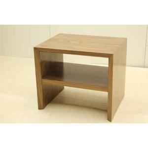 サイドテーブル STB-NA-H45 マホガニー ウォールナット ブラウン 茶  アウトレット 中古 家具 インテリア|get-annex