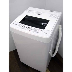 洗濯機 掃除機おまけ付き ハイセンス HW-E4502 4.5kg ホワイト 2019年製 バリュー商品 1人暮らし|get-annex