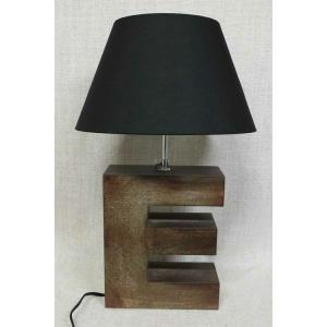 照明 テーブルライト シェード ブラック アルファベットE get-annex