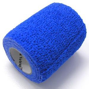 ヴェトラップ 動物用自着性弾力包帯 7.5cm×2m ブルー (ペットの包帯)|get-square