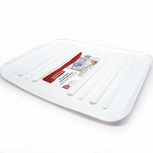 ラバーメイド 水切りトレー 抗菌加工ドレーナートレー (Rubbermaid) L 1182 ホワイト(水が流れる 水切り)|get-square