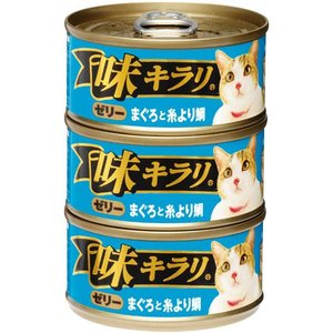 味キラリ ゼリー まぐろと糸より鯛 80g×3P (キャットフード) get-square
