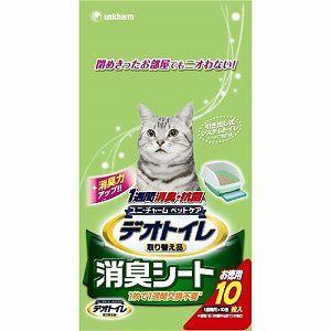 1週間消臭・抗菌デオトイレ 消臭シート 10枚 (猫 トイレシート)|get-square