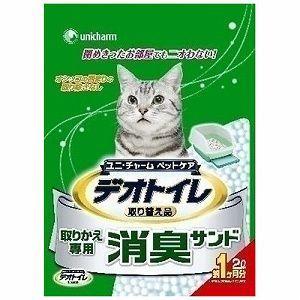 猫用品 1週間消臭・抗菌デオトイレ 取りかえ専用 消臭サンド 2L (猫砂)|get-square
