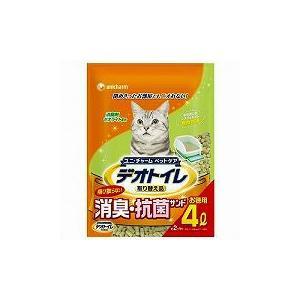 猫用品 1週間消臭・抗菌デオトイレ 飛び散らない消臭・抗菌サンド 4L|get-square
