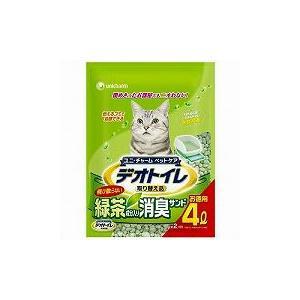猫用品 1週間消臭・抗菌デオトイレ 飛散らない緑茶成分入り・消臭サンド 4L|get-square