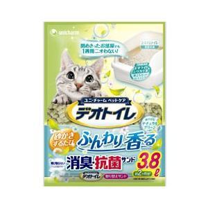 猫用品 ユニチャーム 猫砂 デオトイレ 香る消臭・抗菌サンド 3.8L|get-square