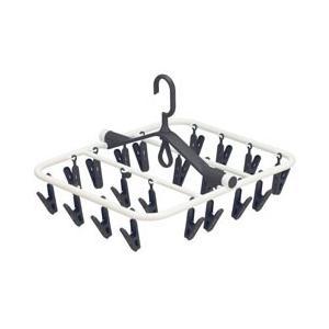 オーエ 洗濯用 ピンチハンガー スマートホーム 角ハンガー20 ピンチ20個付 ブラック|get-square