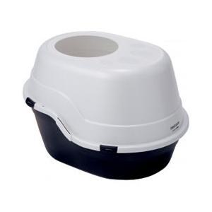 猫用トイレ ペティオ necoco 上から入る 猫トイレ ブラック|get-square