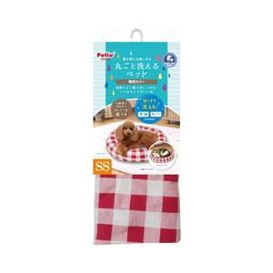 ペット用ベッド 犬 猫 ペティオ 丸ごと洗えるベッド 専用カバー チェック SS 本体別売り|get-square