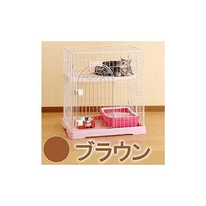 ボンビ サークル コンフォート ミニHi ブラウン (猫 ケージ・ゲージ)|get-square