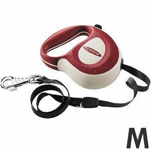 ファープラスト 犬 リード 伸縮リード フリッピーコントローラー M 5mテープ レッド 75050013 |get-square