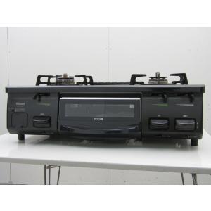 中古 リンナイ ガステーブル LPガス RT61GH-L 左大バーナー ブラック 2014年製|getman