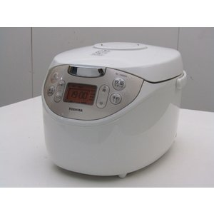 中古 東芝 5.5合炊き マイコン炊飯器 RC-10MSH-W ホワイト 2016年製 getman