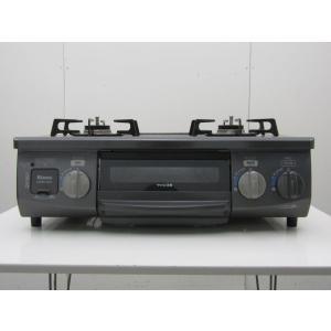 中古 リンナイ ガステーブル LPガス KSR561DGR / RT33NJH-R 右大バーナー グレー 2016年製|getman