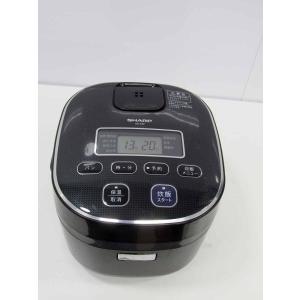 中古 炊飯器 シャープ 3合炊き 炊飯器 KS-C5F-B ブラック 2013年製|getman